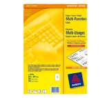Avery Multifunction and Copier Labels 38.1 x 21.2mm 65 Labels Per Sheet Packs of 100 Sheets